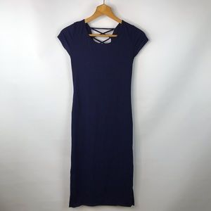 one clothing Dresses - NWT One Clothing Navy Lace Back Fitted Dress